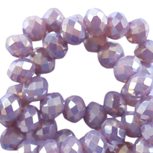 4x3mm Disc - Lavender Topaz Diamond Coating x50