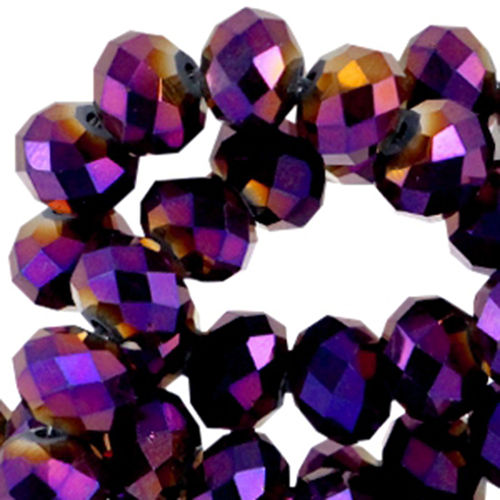 4x3mm Disc - Violet Purple Diamond Metallic x50