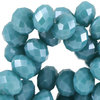 4x3mm Disc - Light Emerald Blue Zircon Opaque Pearl Diamond Coating x50