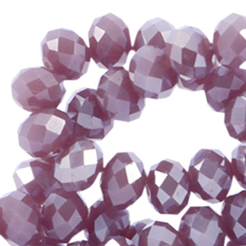 4x3mm Disc - Aubergine Purple Pearl Diamond Coating x50