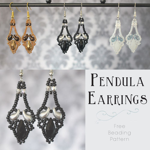 *Free Pattern* - 'Pendula' Earrings