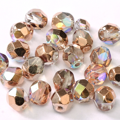 Facet 3mm - Crystal Copper Rainbow x50