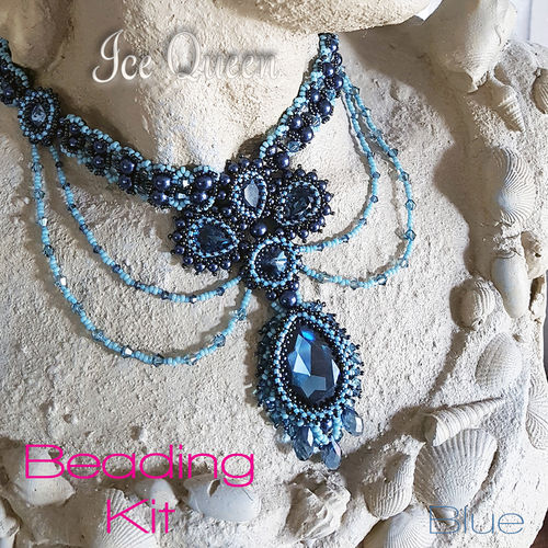 Beading Kit - Necklace 'Ice Queen' - Blue