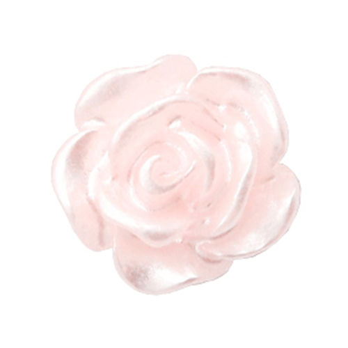 Rose bead 10mm - Pink Harmony Silver Coating x5