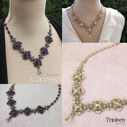 Beading pattern - Necklace 'Caressa'