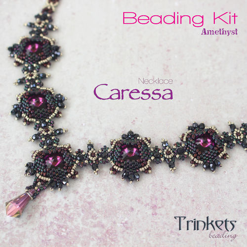 Beading Kit - Necklace 'Caressa' - Amethyst
