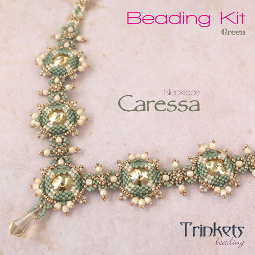 Beading Kit - Necklace 'Caressa' - Green