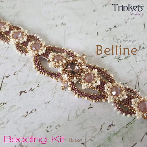 Beading Kit - Bracelet 'Belline' - Rose