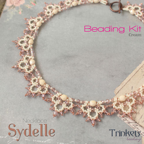 Beading Kit - Necklace 'Sydelle' - cream