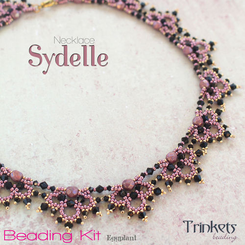 Beading Kit - Necklace 'Sydelle' - eggplant