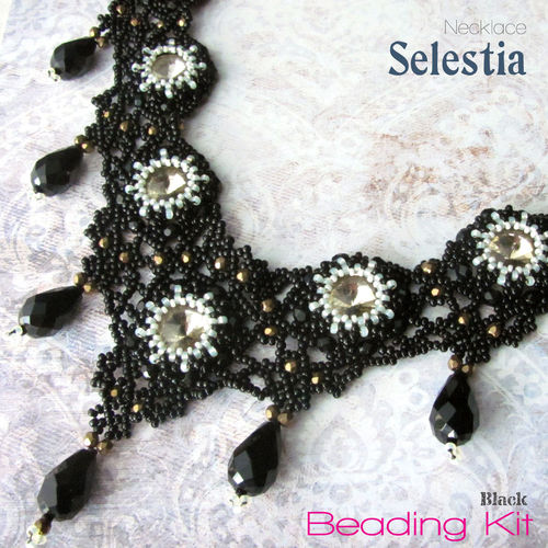 Beading Kit - Necklace 'Selestia' - Black