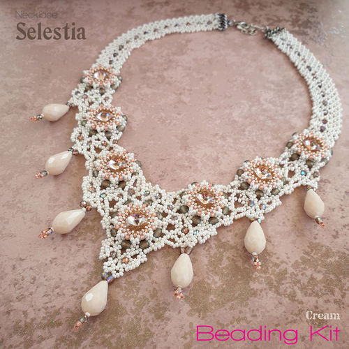 Beading Kit - Necklace 'Selestia' - Cream