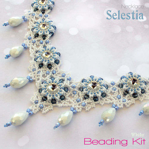 Beading Kit - Necklace 'Selestia' - White