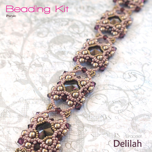 Beading Kit - Bracelet 'Delilah' - Purple