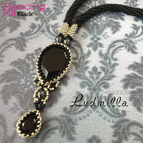 Beading Kit - Necklace 'Ludmilla' - Black