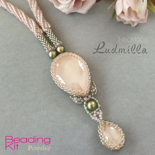 Beading Kit - Necklace 'Ludmilla' - Powder