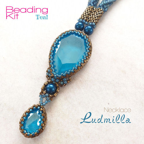 Beading Kit - Necklace 'Ludmilla' - Teal