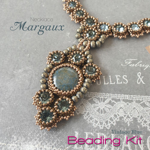 Beading Kit - Necklace 'Margaux' - Vintage Blue