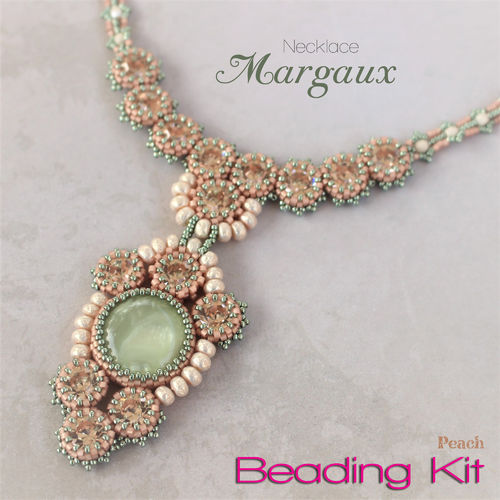 Beading Kit - Necklace 'Margaux' - Peach