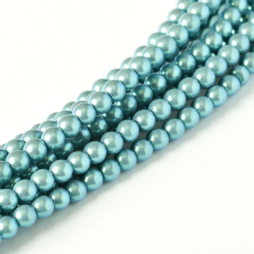Parel 4mm - Silver Blue x50