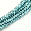 Czech Pearl 4mm - Silver Blue x50