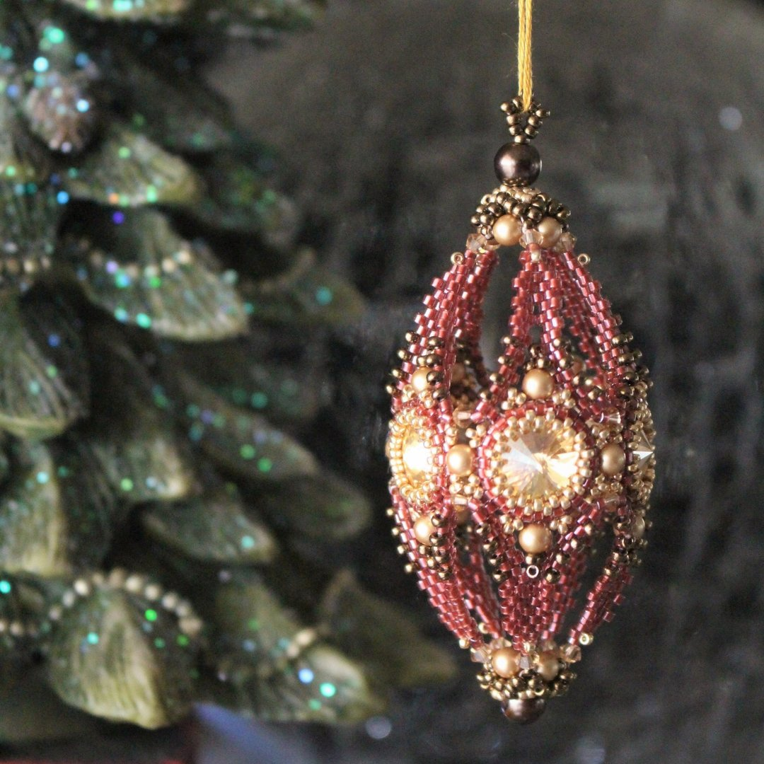 Beading pattern - Christmas Cone Ornament