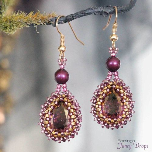 Beading pattern - Earrings 'Fancy Drops'